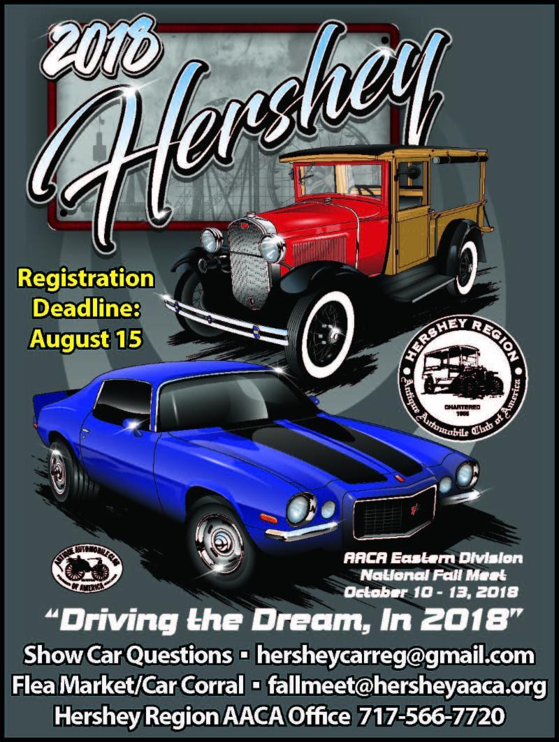 Fall Meet Hershey Deadline The Gettysburg Region - Hershey car show 2018 dates